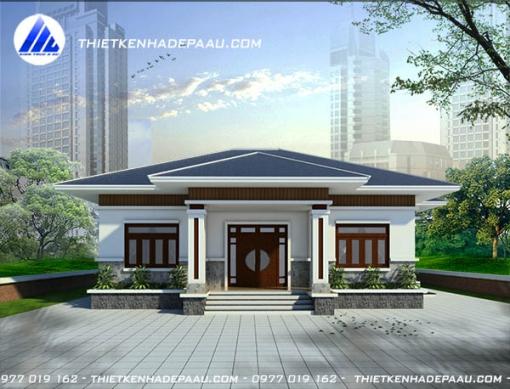 Thiết kế biệt thự kiểu dáng nhà cấp 4 mái thái