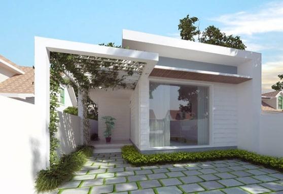 mẫu thiết kế nhà cấp 4 mái thái trên diện tích nhỏ