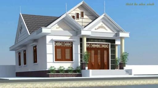 Thiết kế nhà cấp 4 mái Thái rộng rãi với kích thước 8mx14m