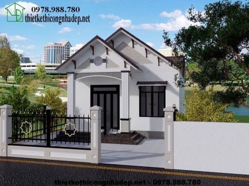 Bản vẽ thiết kế căn nhà cấp 4 mái thái