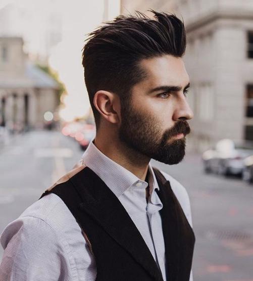 Hình ảnh mẫu tóc Undercut vuốt dựng quyến rũ cho nam