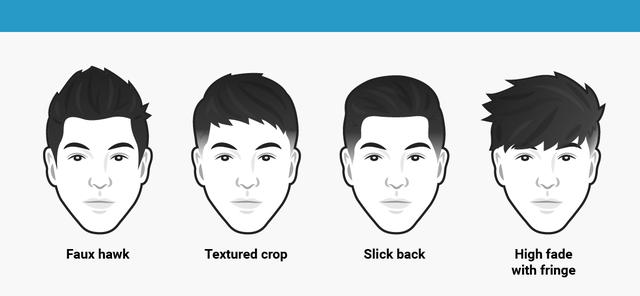 Khuôn mặt tròn nên cắt tóc kiểu gì cho nam giới ?