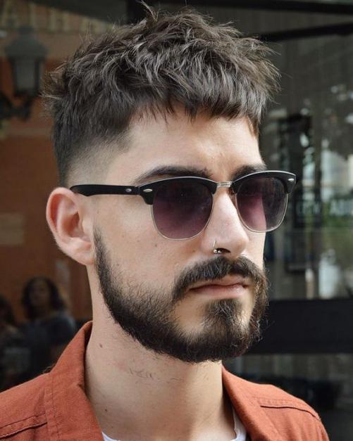 Các phong cách cho kiểu tóc layer nam mặt tròn đẹp
