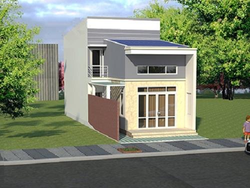thiết kế nhà cấp 4 có gác lửng mái tôn