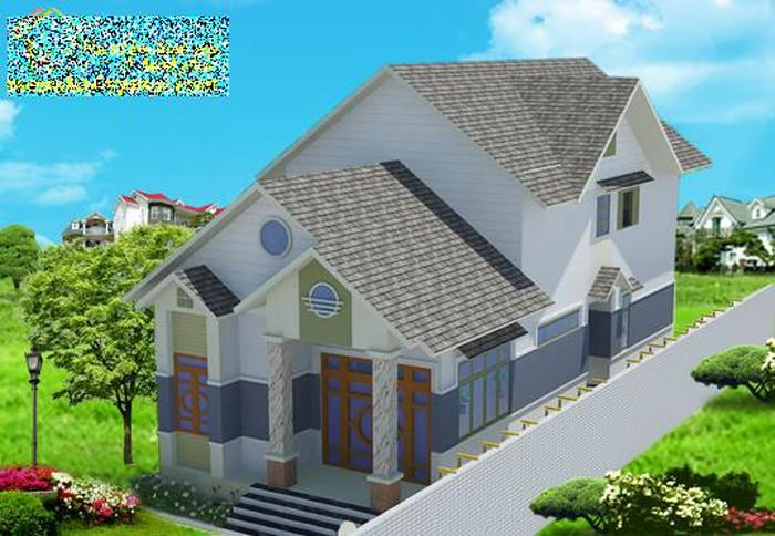 thiết kế nhà cấp 4 có gác lửng mái thái
