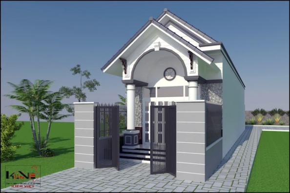 mẫu nhà cấp 4 3 phòng ngủ 1 phòng thờ đẹp - h6