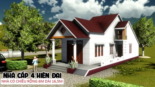 Mẫu thiết kế nhà cấp 4 đẹp ở nông thôn