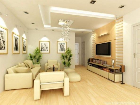 Mẫu trần thạch cao giật cấp cho phòng khách - H1