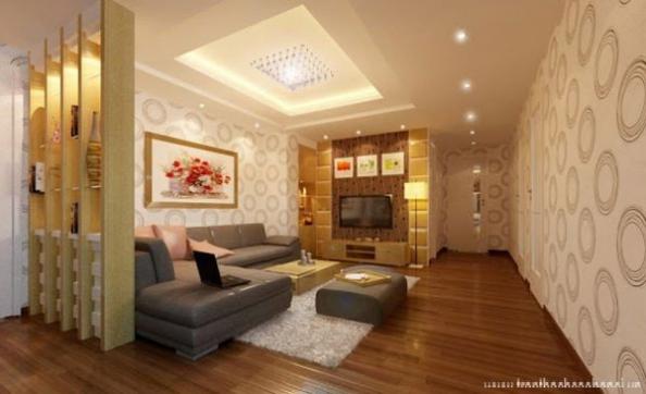 Mẫu trần thạch cao giật cấp cho phòng khách - H3