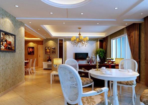 Mẫu trần thạch cao phòng khách cổ điển đẹp