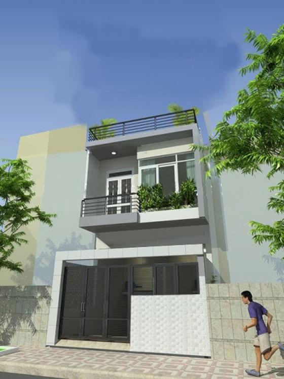 Mẫu nhà đẹp 2 tầng 100m2 - thiết kế 1