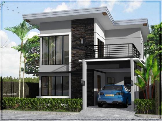 Mẫu nhà đẹp 2 tầng 100m2 - thiết kế 2