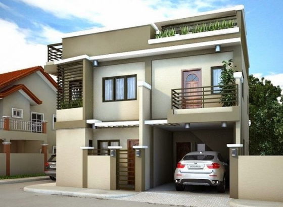 Mẫu nhà đẹp 2 tầng 100m2 - thiết kế 7