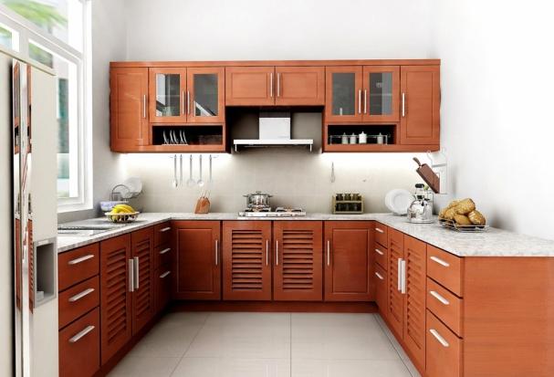 Thiết kế không gian phòng bếp nhà cấp 4 có 2 phòng ngủ