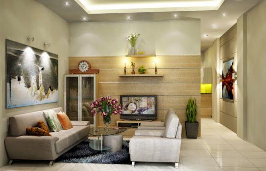 Mẫu phòng thờ phòng khách đẹp - thiết kế 4