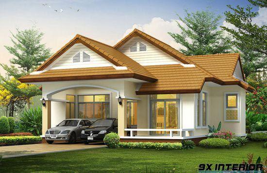 Nhà 1 tầng đơn giản -H10