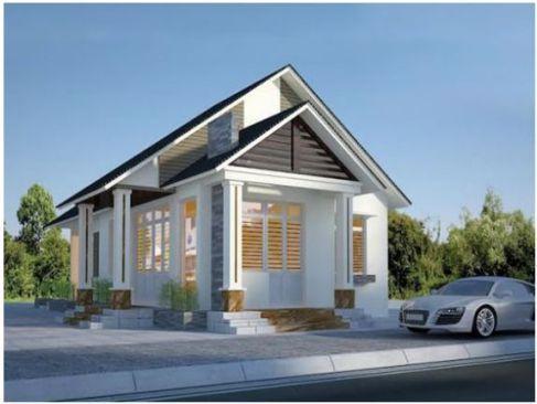 Nhà 1 tầng đơn giản -H13