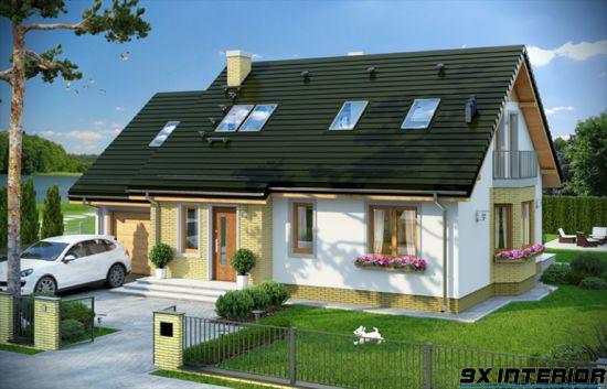 Nhà 1 tầng đơn giản -H15