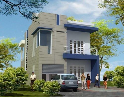 Thiết kế nhà phố đẹp diện tích 8x15m2 - Mẫu 2