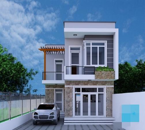 Thiết kế nhà phố đẹp diện tích 8x15m2 - Mẫu 6