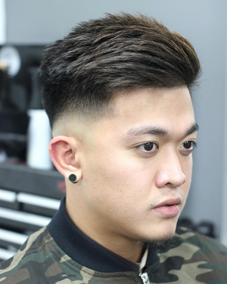 Tóc nam ngắn cao