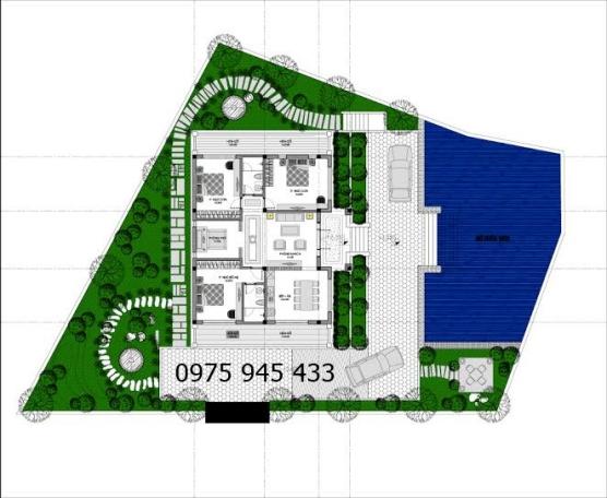 Chi tiết bản vẽ thiết kế mẫu biệt thự sân vườn cấp 4