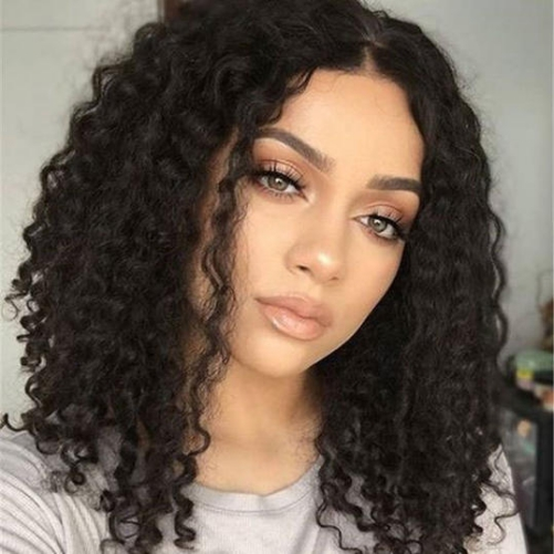 Centered shoulder length hairstyles for thick hair
