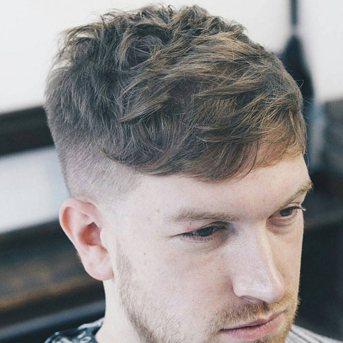 Short fringe hairstyles mens