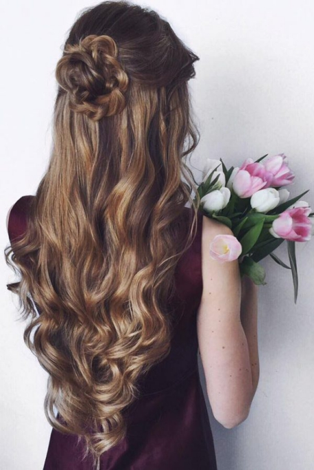 flower girl hairstyles with braids and curls