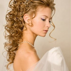 Half Up And Half Down Curly Hair Styles For Girl