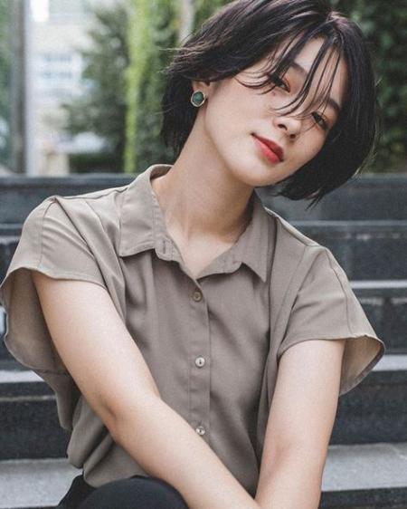 Xu hướng mẫu tóc ngắn đẹp như sao Hàn - Hình 10
