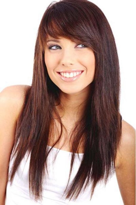 Long Razor Cut Layers For Round Faces Women