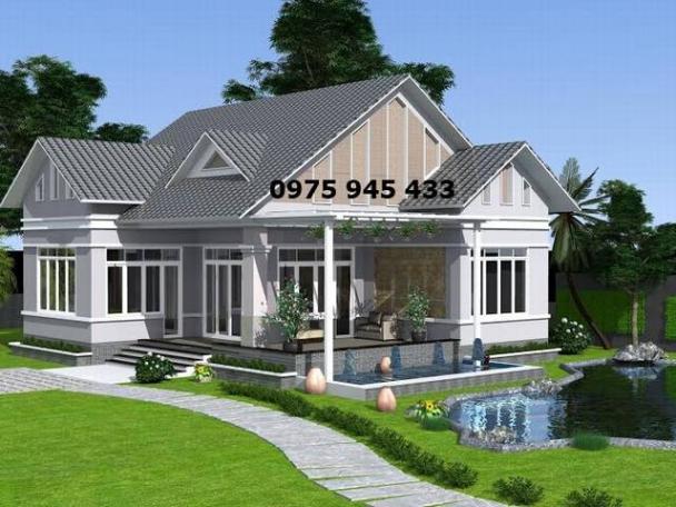 Thiết kế nhà cấp 4 sân vườn đẹp ở vùng nông thôn