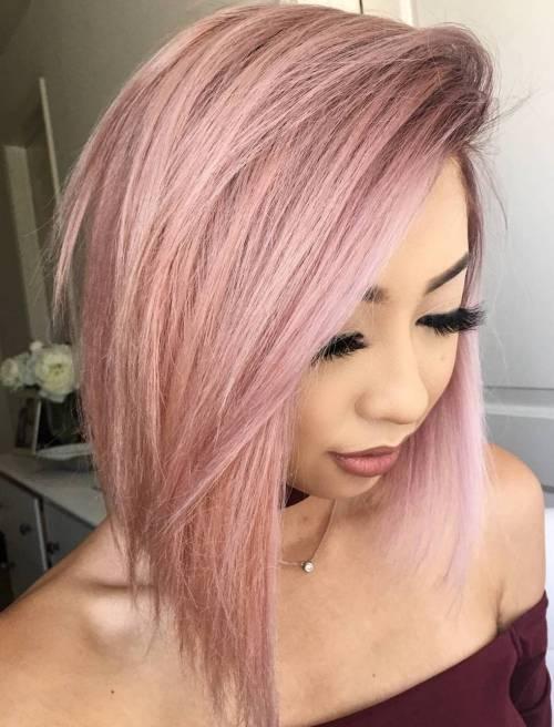 Medium Pastel Pink Bob