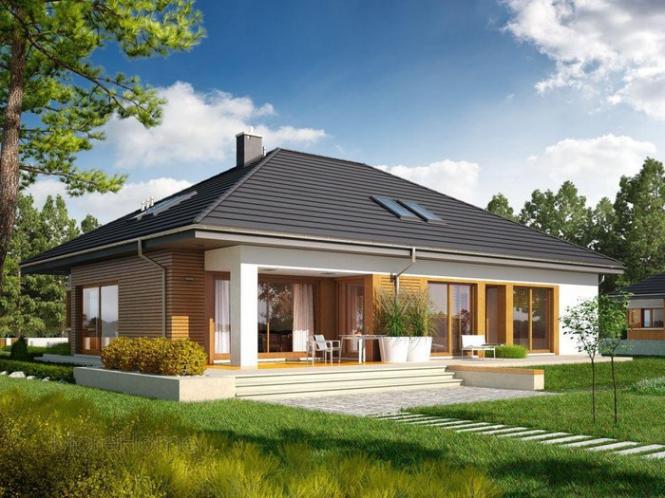 Nhà cấp 4 đẹp rộng 80m2 - Mẫu thiết kế 2
