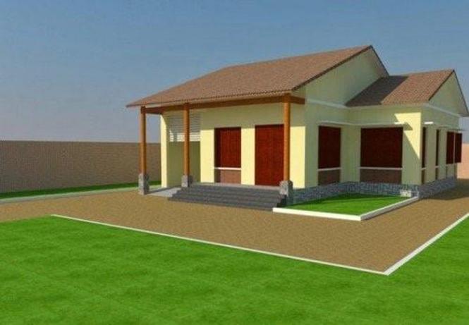 Nhà cấp 4 đẹp rộng 80m2 - Mẫu thiết kế 9