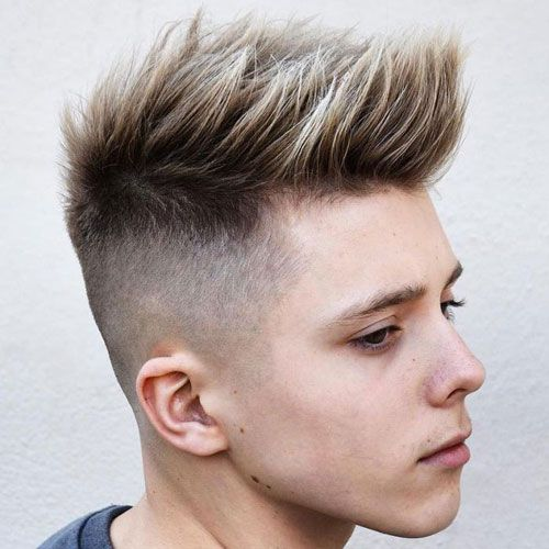 Mens short faux hawk hairstyles