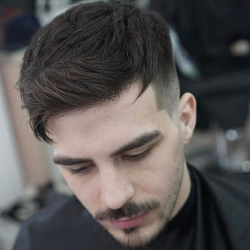 Mens short hair - messy quiff haircut & style