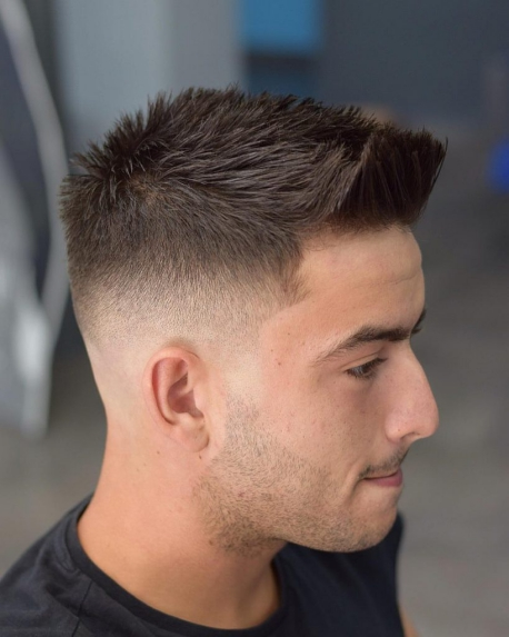 Spiky quiff with faded sides