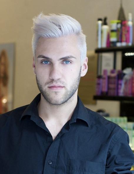 Tóc Undercut màu bạch kim nam đẹp nhất hiện nay