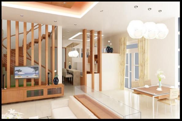 Thiết kế nội thất phòng khách mẫu biệt thự 3 tầng