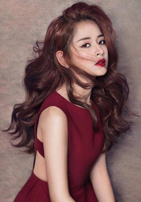 Các kiểu tóc màu đỏ tím nhạt số 3