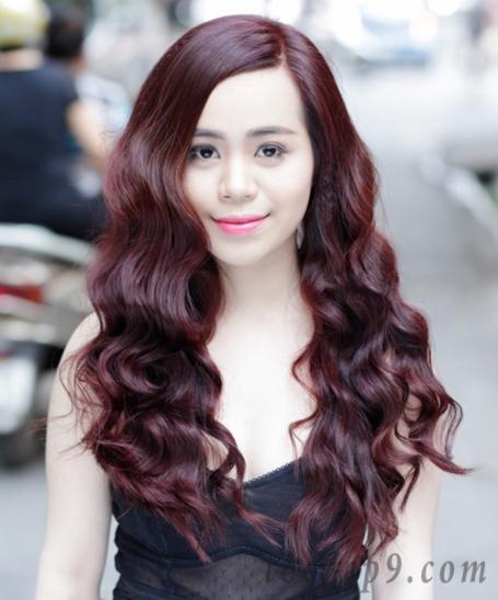 Màu tóc đỏ tím trầm Số 1
