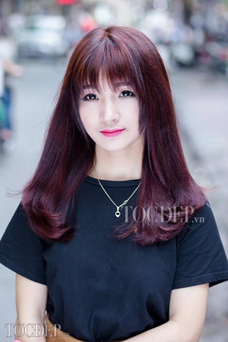 Tổng hợp màu tóc đỏ tím trầm Số 3
