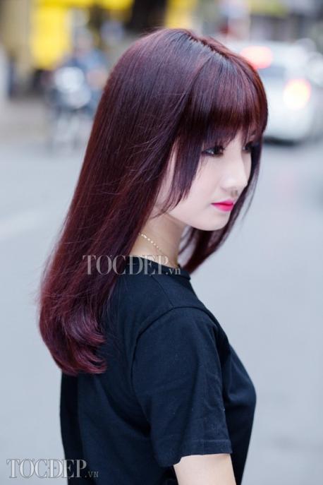 Bộ sưu tập màu tóc đỏ tím trầm Số 4