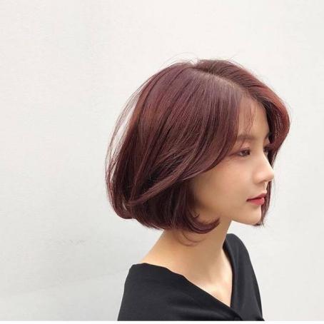 Thông tin kiểu tóc ngắn màu đỏ tím số 3