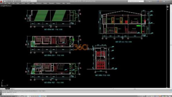 Thư viện autocad mẫu nhà phố các loại - thiết kế 1