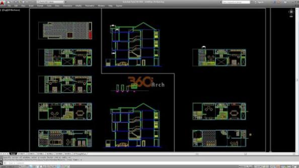 Thư viện autocad mẫu nhà phố các loại - thiết kế 2