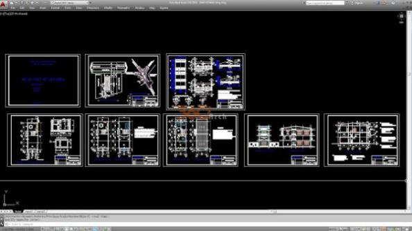 Thư viện autocad mẫu nhà phố các loại - thiết kế 3