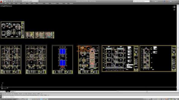 Thư viện autocad mẫu nhà phố các loại - thiết kế 4